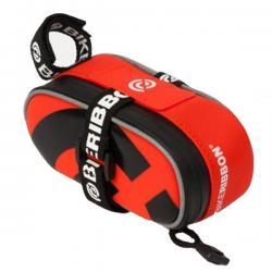 Silikonowa torebka podsiodłowa - BikeRibbon - Mała - Czerwona