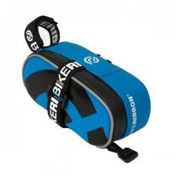 Silikonowa torebka podsiodłowa - BikeRibbon - Mała - Niebieska