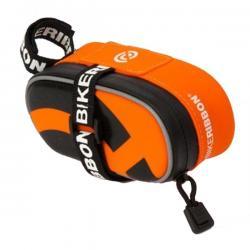 Silikonowa torebka podsiodłowa - BikeRibbon - Mała - Pomarańczowa