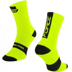 Skarpety FORCE LONG PRO - FLUO żółte L / XL