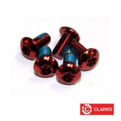 Śruby tarcz hamulcowych - torx - czerwone - 12gram CLARKS