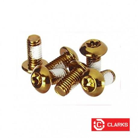 Lekkie śruby do tarczy - torx - złote - 12gram