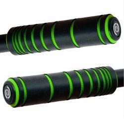 BikeRibbon włoskie silikonowe chwyty FREAKWAVE czarno - zielone