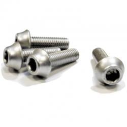 Śruby aluminiowe M5 - 15mm SREBRNE A2Z - 4szt