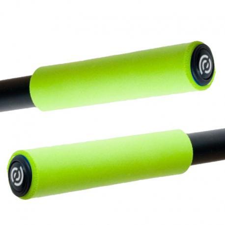 BikeRibbon włoskie silikonowe chwyty SIO2 zielone (gripy)