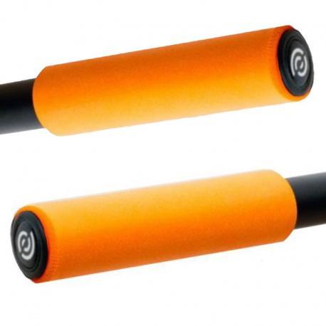 Silikonowe chwyty rowerowe BikeRibbon SIO2 zielone (gripy)