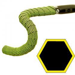 BikeRibbon HEXAGON włoska Czarno - Żółta owijka