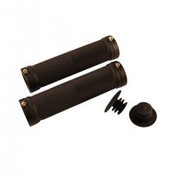 Chwyty rowerowe CZARNE - CLARKS - 128mm skręcane