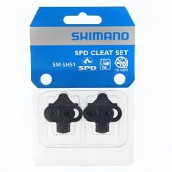 Bloki do pedałów MTB SHIMANO SPD SM-SH51