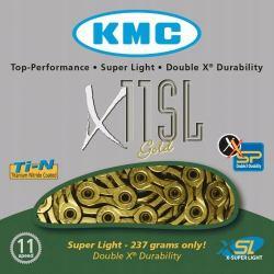 KMC 11SL Gold - łańcuch rowerowy złoty + spinka