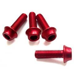 Śruby aluminiowe M5 - 15mm CZERWONE A2Z - 4szt