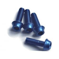 Śruby aluminiowe M5 - 15mm NIEBIESKIE A2Z - 4szt