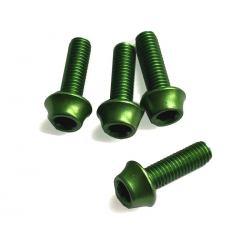Śruby aluminiowe M5 - 15mm ZIELONE A2Z - 4szt