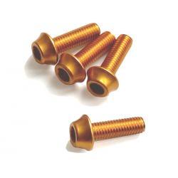 Śruby aluminiowe M5 - 15mm ZŁOTE A2Z - 4szt